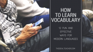 how to learn vocabulary effectively for modern languages