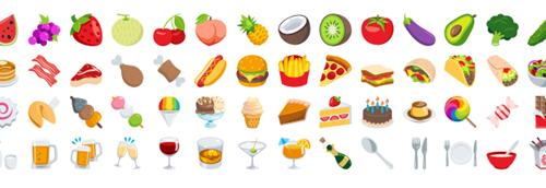 Essen und Trinken Emojis
