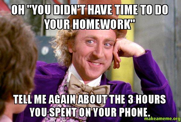 homework meme