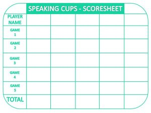 Speaking Cups Scoreboard