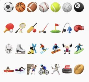 emoji prompts leisure activities