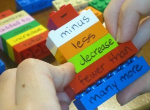 vocabulary lego bricks