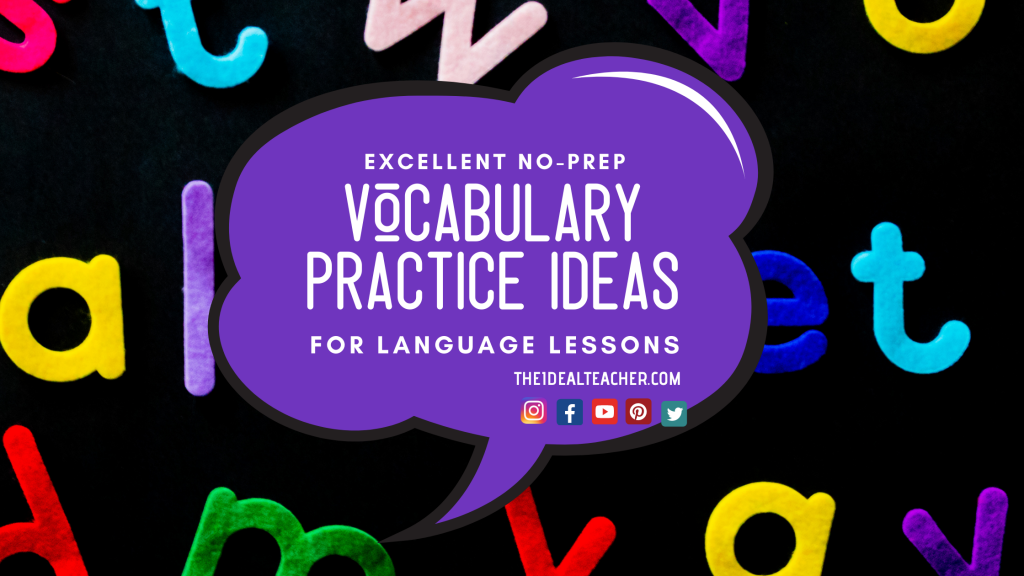 Excellent Vocabulary Practice Ideas for Language Lessons Revision (1)
