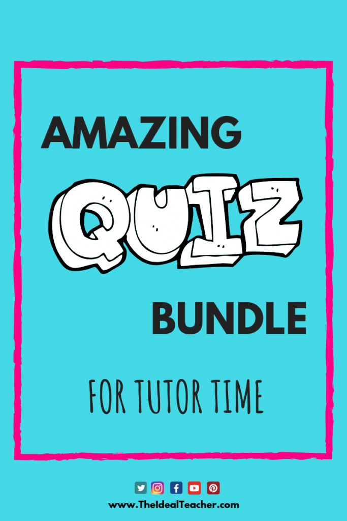General Knowledge Quiz Bundle for Tutor Time