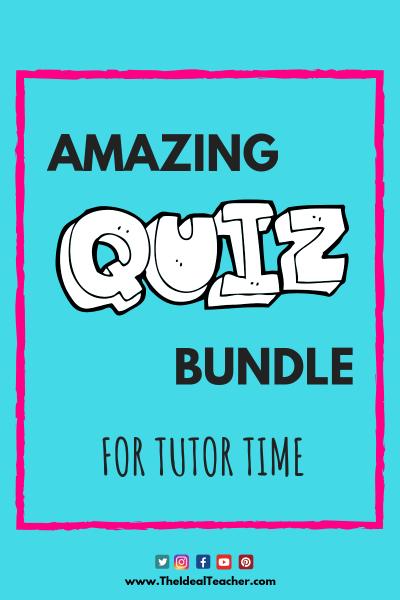 Quiz Bundle for Tutor Time Blog Graphic