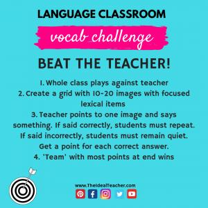 beat the teacher vocabulary challenge