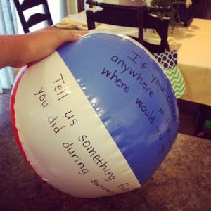 speaking beach ball activity