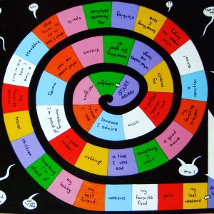 spiral board game for speaking