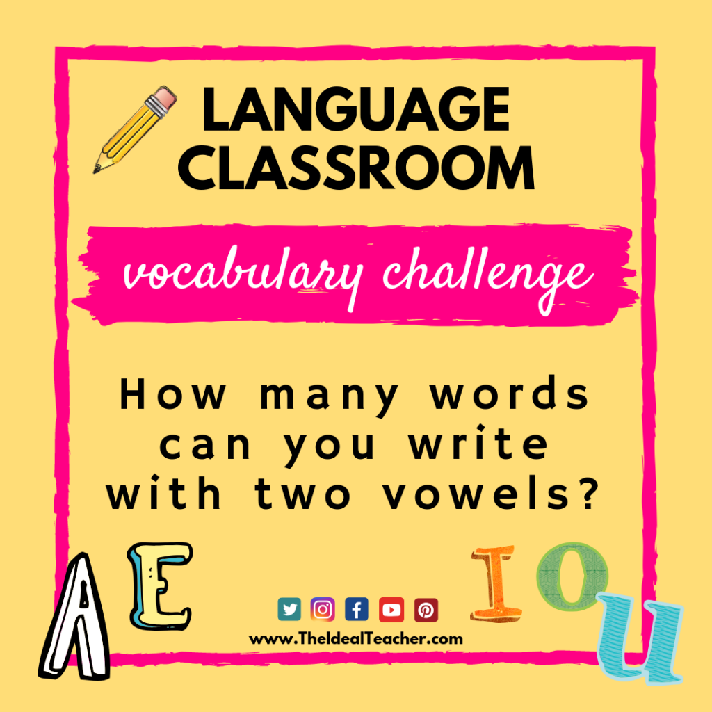 the vocabulary challenge - words with two vowels