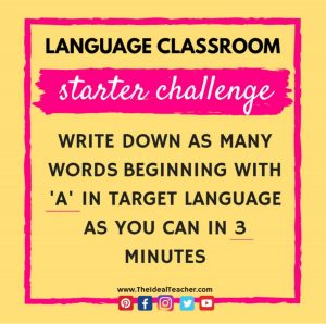 vocabulary challenge starter