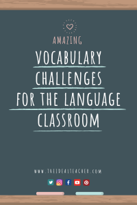 vocabulary activities for the language classroom