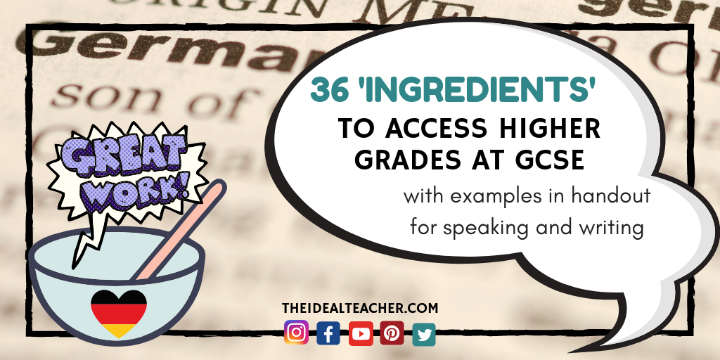 36 gcse german phrases to access higher grades