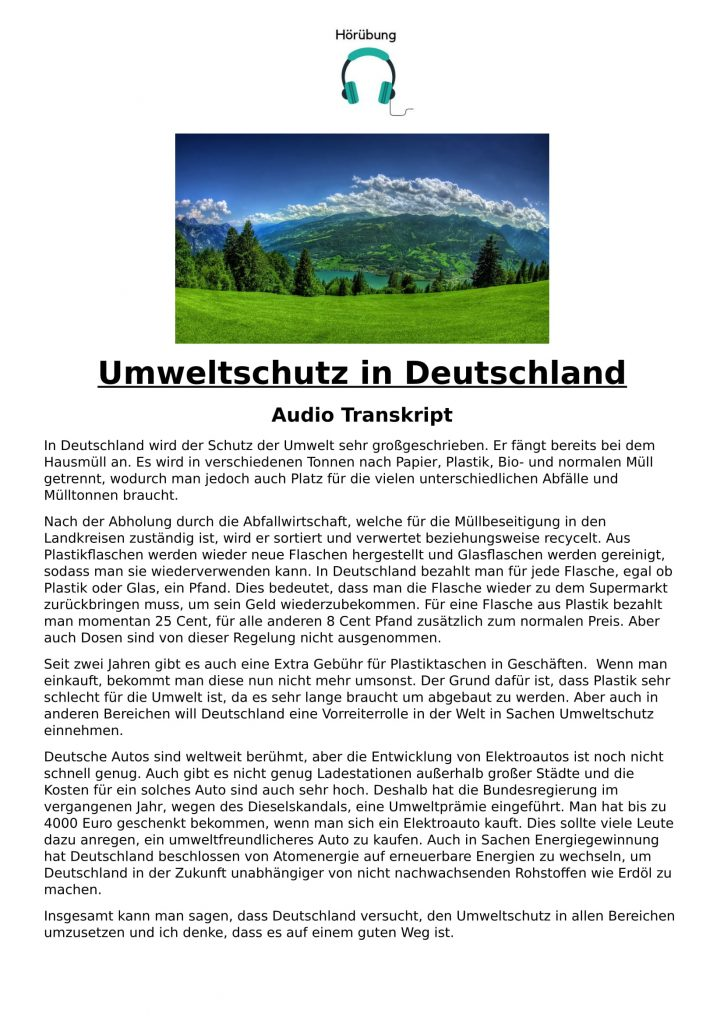 Umweltschutz in Deutschland-1