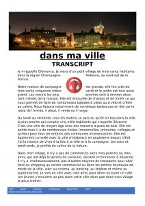 dans ma ville French listening lesson with transcript and activities-1