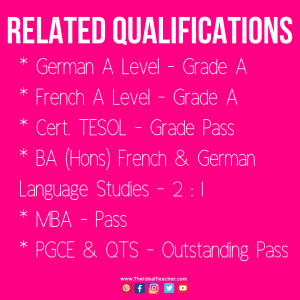The Ideal Teacher Qualifications