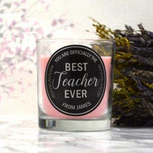 best teacher candle