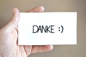 danke thank you note