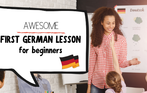 first German lesson for beginners