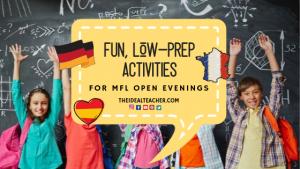 10 mfl ideas for open evenings