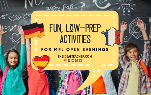 10 mfl ideas for open evenings