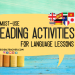 reading activities for language lessons blog