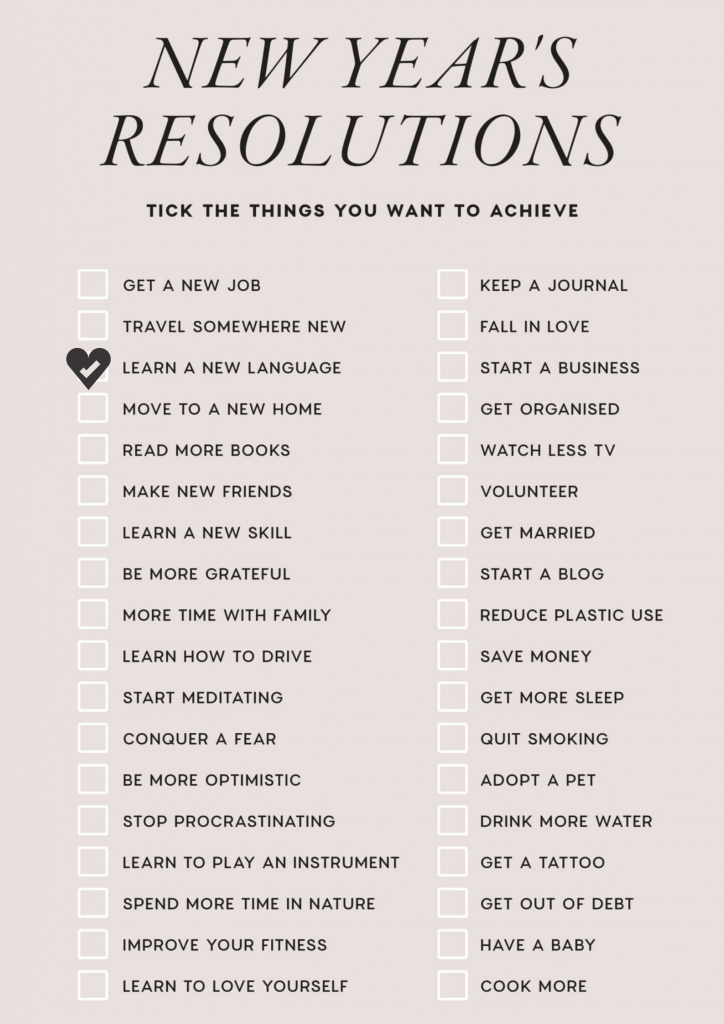 How To Learn a New Language New Year's Resolutions