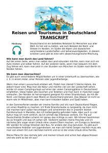 Reisen und Tourismus in Deutschland-1