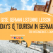 holidays and tourism gcse german listening lesson