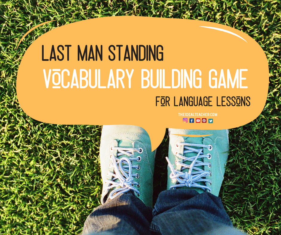 Last man standing vocabulary building game