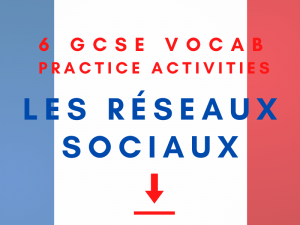 French GCSE Social Media Vocabulary Practice