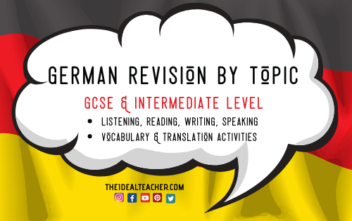 GCSE German and Intermediate German Revision Activities by Topic