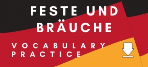 German Feste und Bräuche GCSE Vocabulary Worksheet