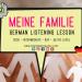 Meine Familie und Beziehungen German Listening Lesson Practice