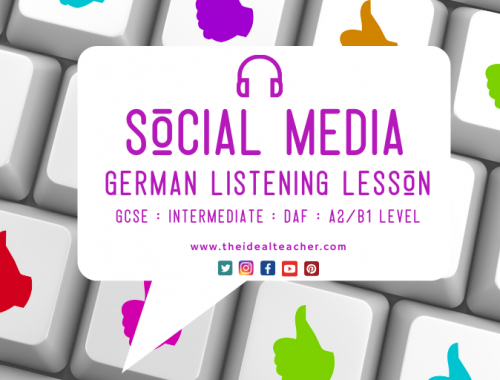 Social Media German GCSE Listening Lesson Practice