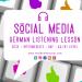 Social Media German GCSE Listening Lesson Practice