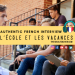 l'ecole et les vacances french listening practice interview clip