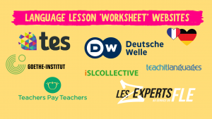 LANGUAGE LESSON WORKSHEET WEBSITES