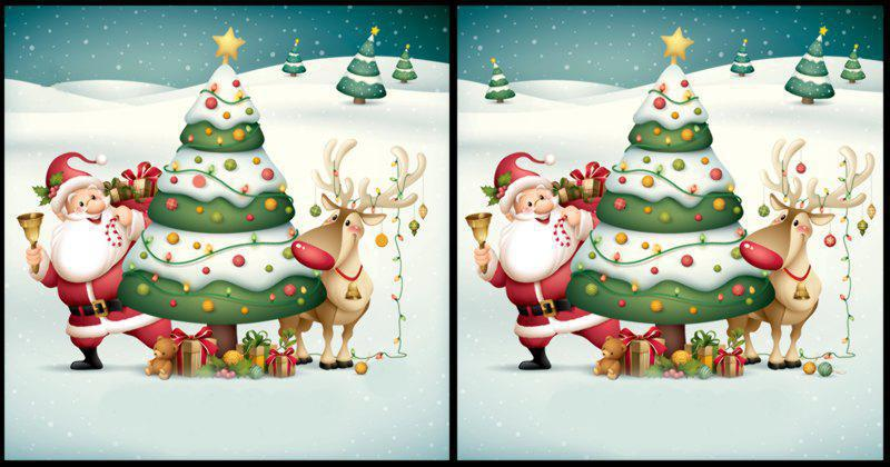 spot the difference language Christmas Quiz