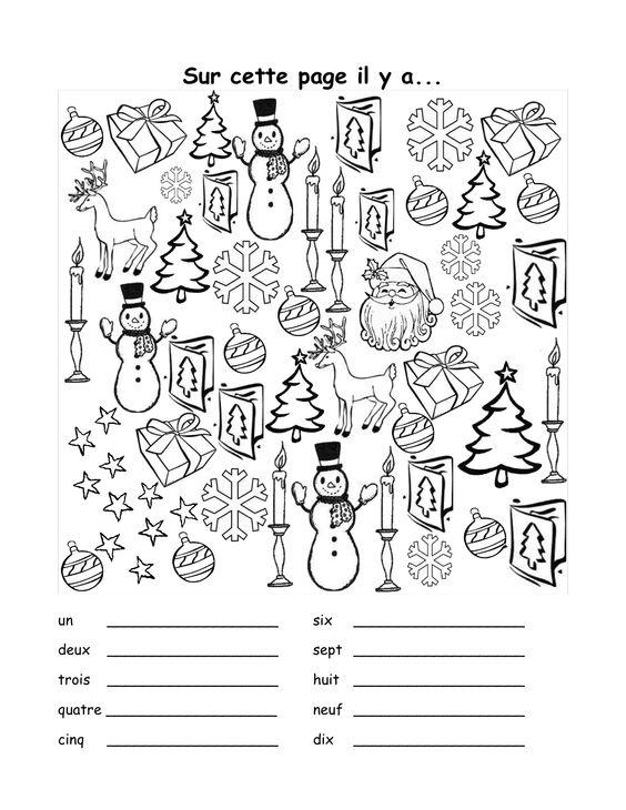 sur cette page il y a - christmas vocabulary activity